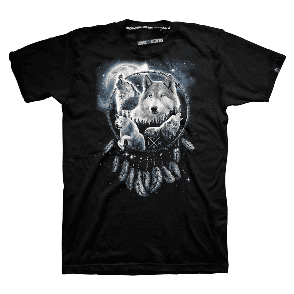 T-Shirt Dreamcatcher - Schwarz