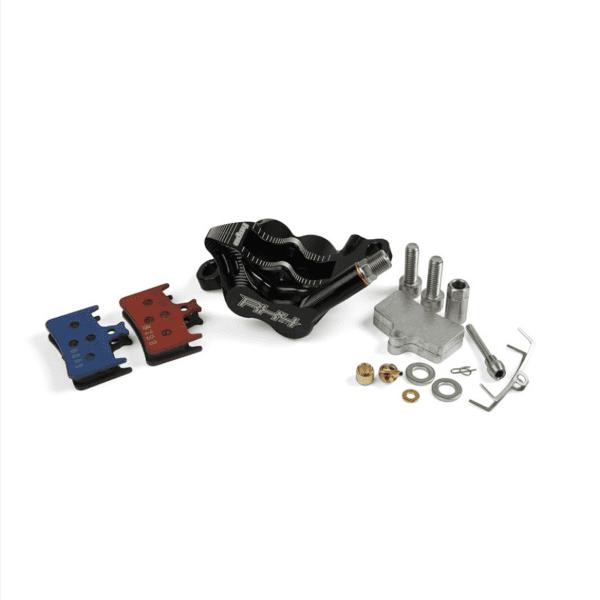 RX4 Bremssattel Postmount Complete - Shimano - Schwarz