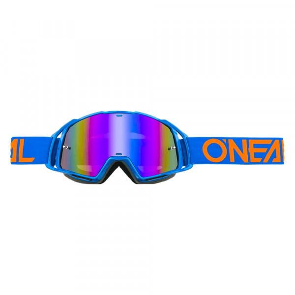 B20 Flat Goggle - blue - Lens radium blue