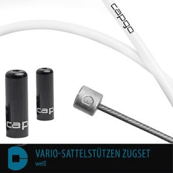 BL Vario-Sattelstützen Zugset - Weiß