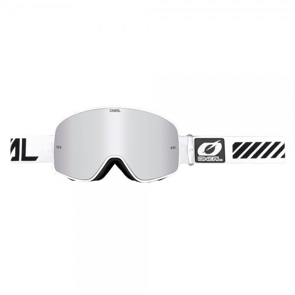 B50 Force Goggle - white - Lens mirror silver