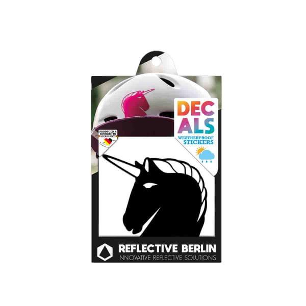 Reflective DECAL - Unicorn - schwarz
