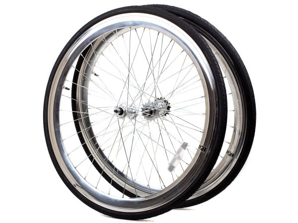 Deep Section Singlespeed Fixed Gear Laufradsatz - 30 mm Felgen - silber