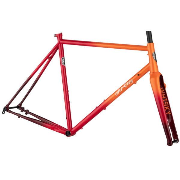 Zig Zag Rahmenset - Rot / Orange