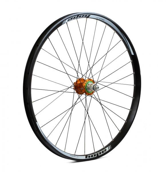 Tech DH-Pro 4 Hinterrad - orange