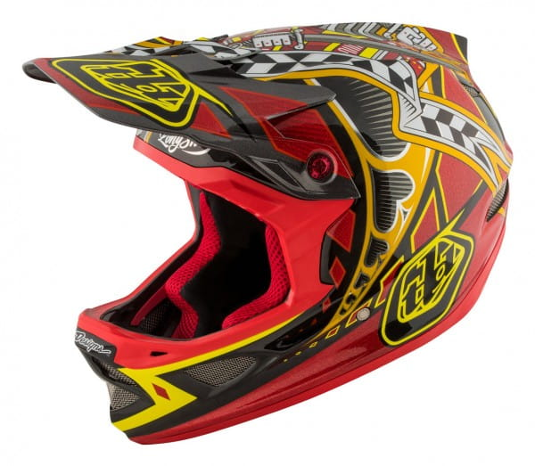 D3 Carbon MIPS Fullface Helm Longshot Red