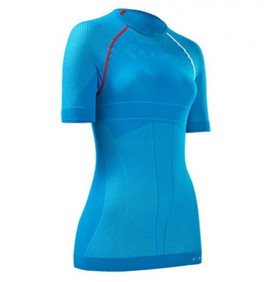 WLS Funktionsunterhemd Ladies für warme Bedingungen blau - kurzarm