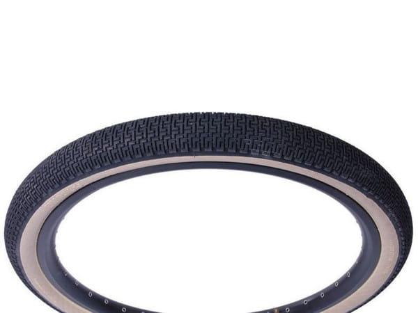 SuperMoto Drahtreifen 2.2x26 Zoll - schwarz/beige