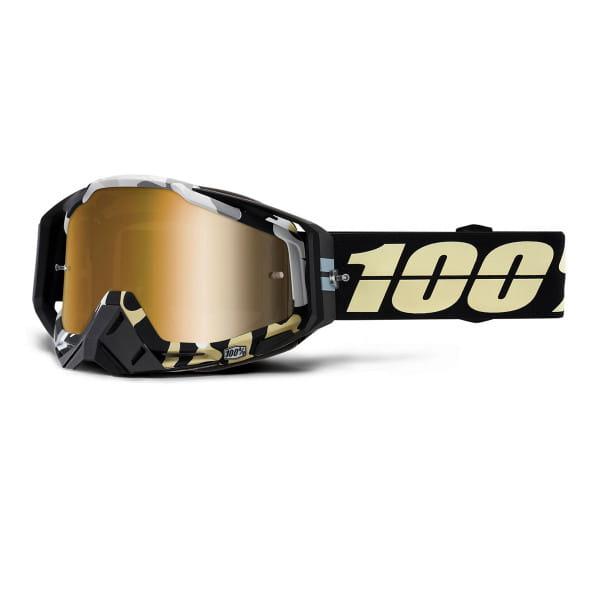 Racecraft Goggle Anti Fog Mirror Lens - Schwarz/Gold