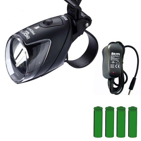 IXON IQ Speed Premium Scheinwerfer mit Akku + Ladegerät