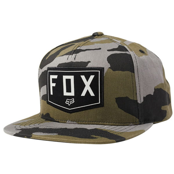 Shield Snapback Cap - Camo