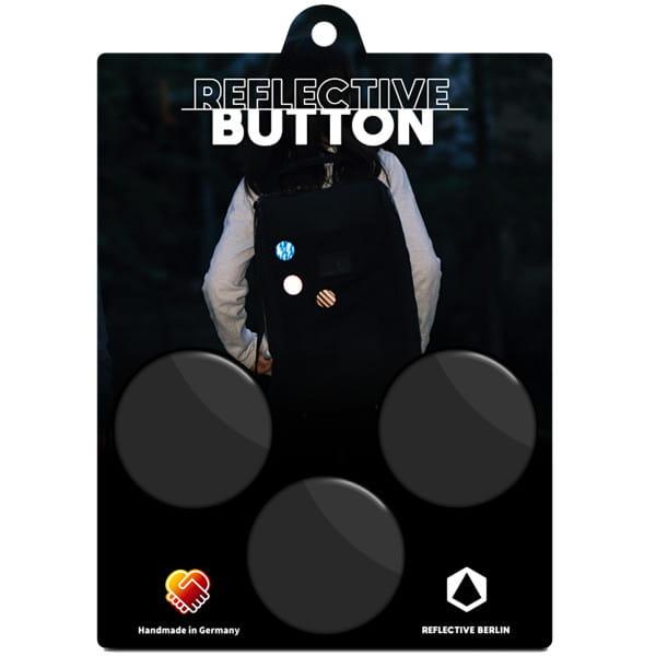 Reflective Upcycled BUTTON - Schwarz