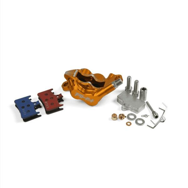 RX4 Brake Caliper Postmount Complete - Shimano - Orange