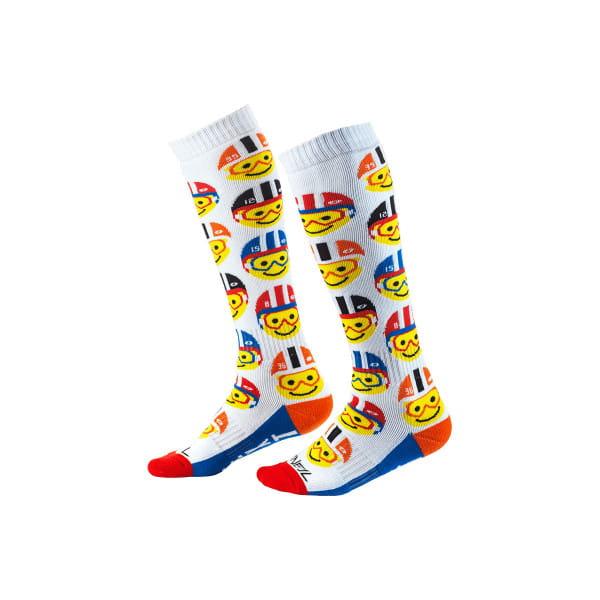 Pro MX Emoji Racer - Socken - Weiss