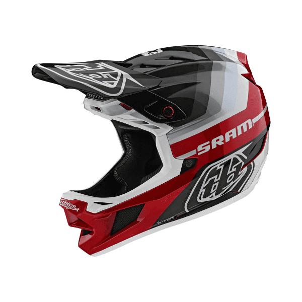 D4 Helmet (Mips) Carbon Fullface-Helm - Mirage SRAM Schwarz/Rot