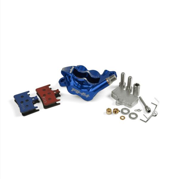 RX4 Brake Caliper Postmount Complete - Shimano - Blue