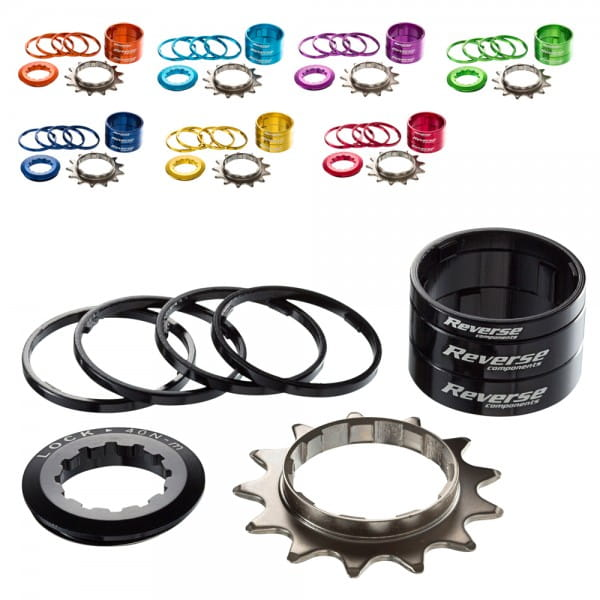 Singlespeed Kit 13T Ritzel + 7 Spacer