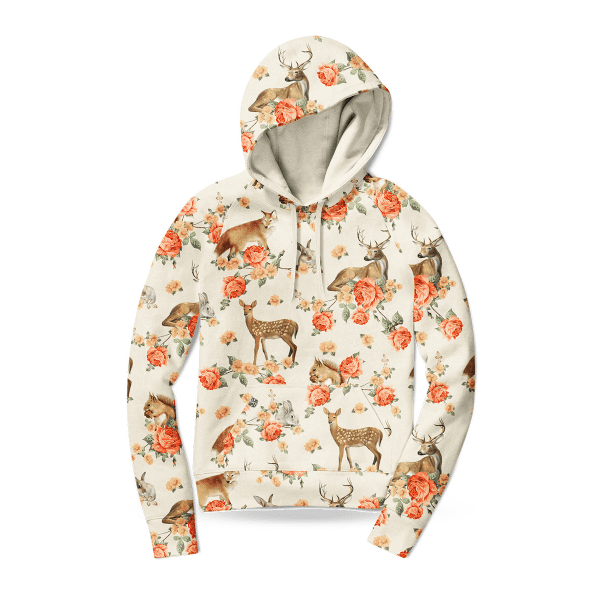 Women's hoodie sweater - Forest Animals