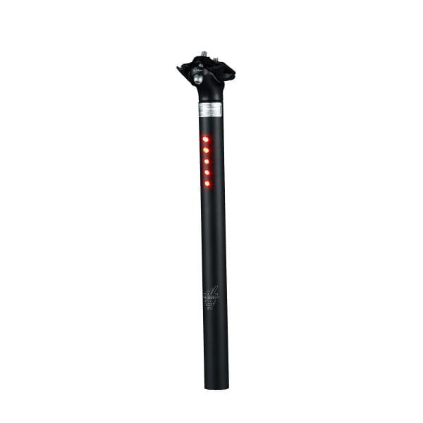 Sattelstütze mit 5 LED's StVZO - ø 27.2 mm - Schwarz
