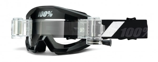 Strata Goggle Mud / SVS (inkl. SVS Roll-Off System) - Goliath - Clear Lens