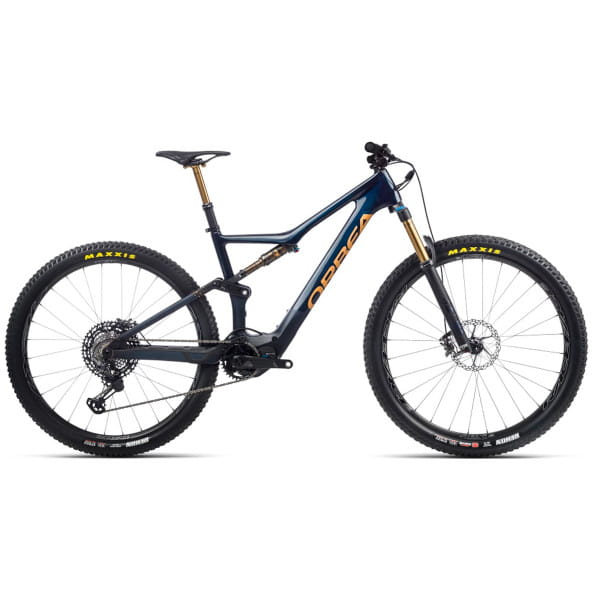 Rise M-LTD - 29 Zoll Fully E-Bike - Carbonblau/Rotgold