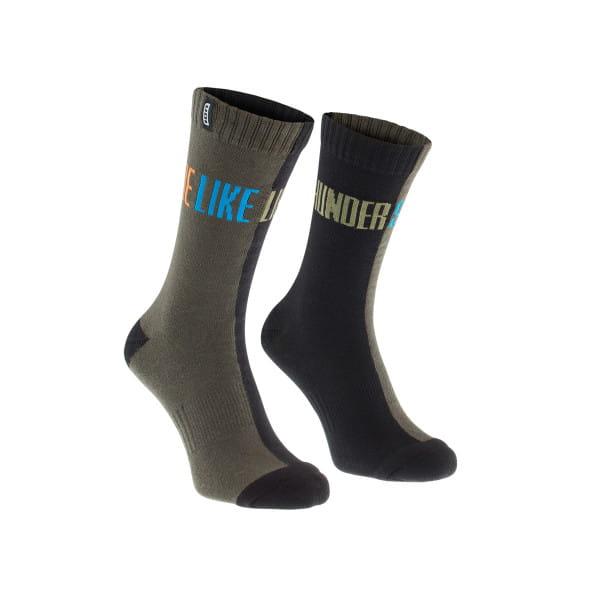 Scrub Socken - Grau/Schwarz
