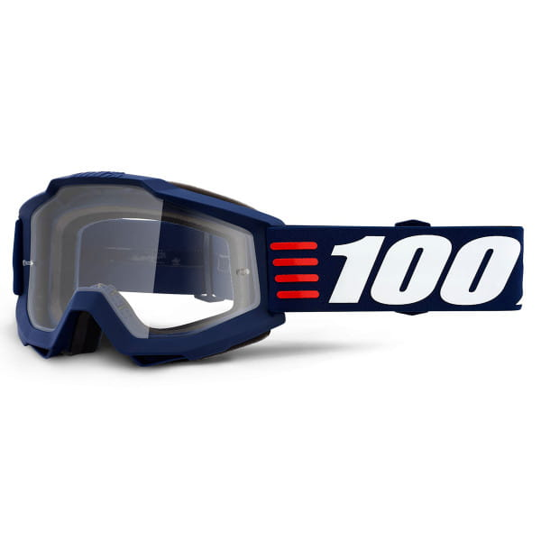 Accuri Goggles Anti Fog Clear Lens - Blau/Weiß