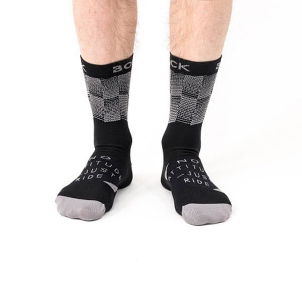 DORI sokken - zwart / grijs
