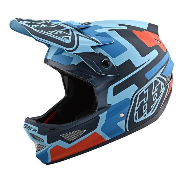 D3 Fiberlite SpeedCode Fullface Helm - Blau/Schwarz