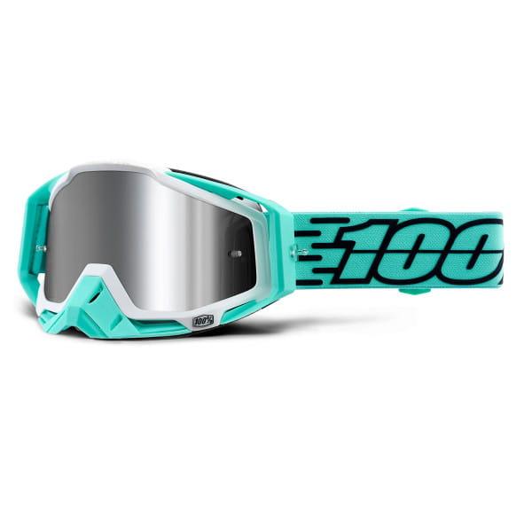 Racecraft Plus Goggles injected mirror lens - Türkis/Schwarz