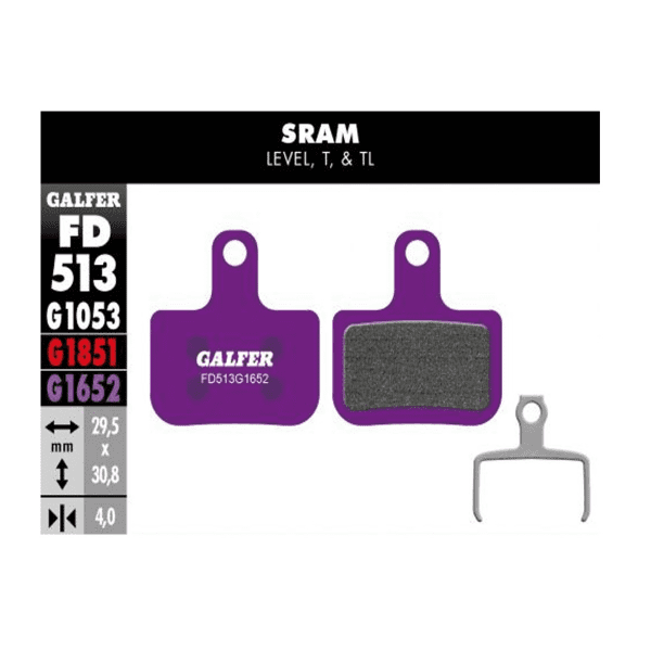 E-Bike Brake Pad G1652 Sram - Violet