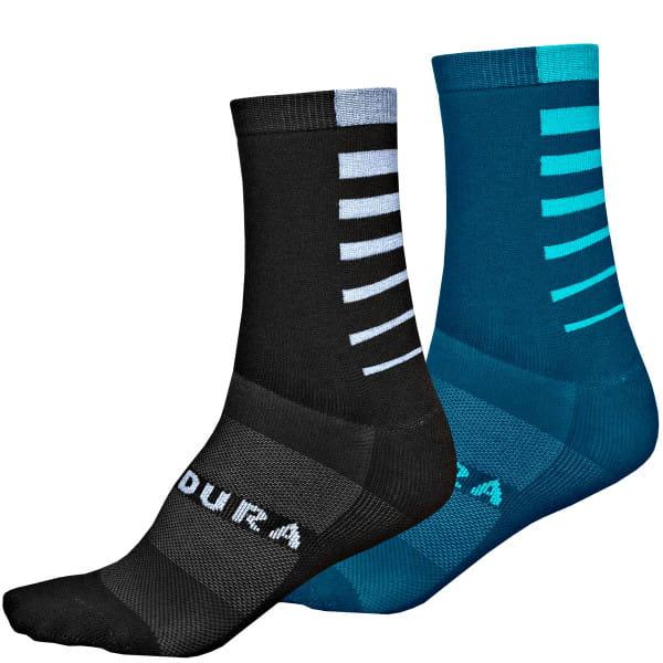 CoolMax Race Stripe Socken - Schwarz/Blau