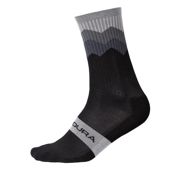 Zacken Socken - Schwarz
