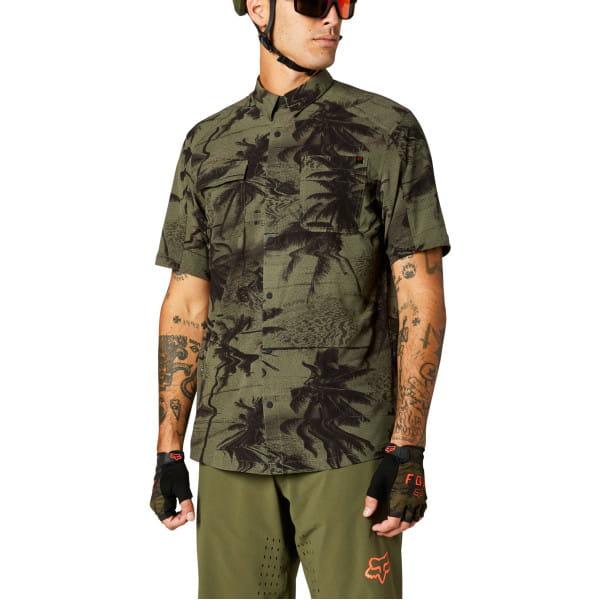 Flexair Woven - Gewobenes Kurzarm Hemd - Olive Grün
