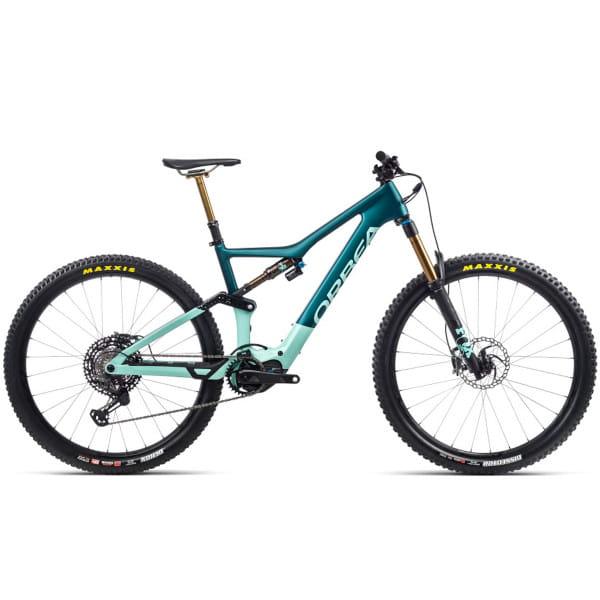 Rise M-TEAM - 29 Zoll Fully E-Bike - Eisgrün/Oceanblau