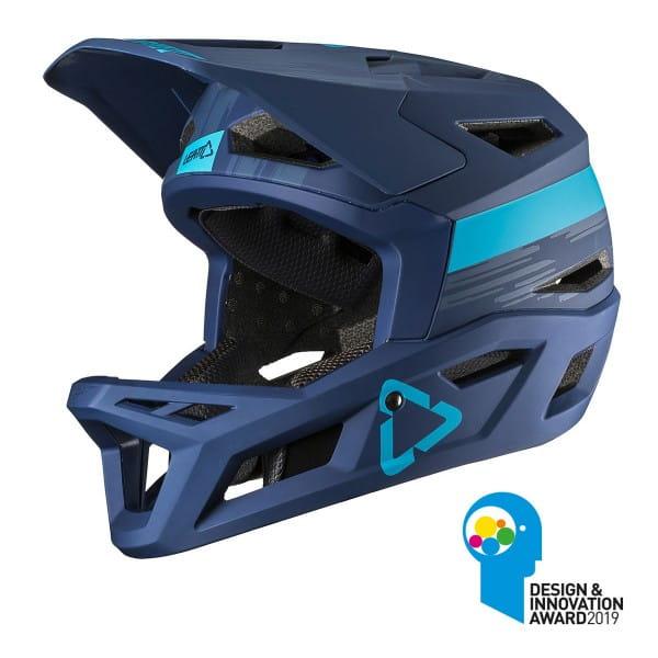 DBX 4.0 Super Ventilated Full Face Helm - Blau