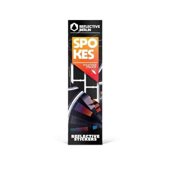 Reflective SPOKES - Reflektoraufkleber für Speichen - schwarz