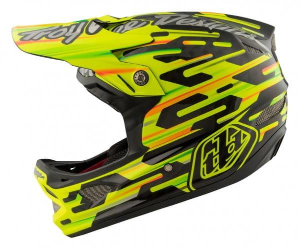 D3 Carbon MIPS Fullface Helm Code Yellow