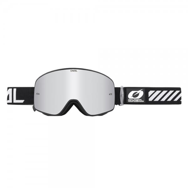 B50 Force Goggle - black - Glass mirror silver