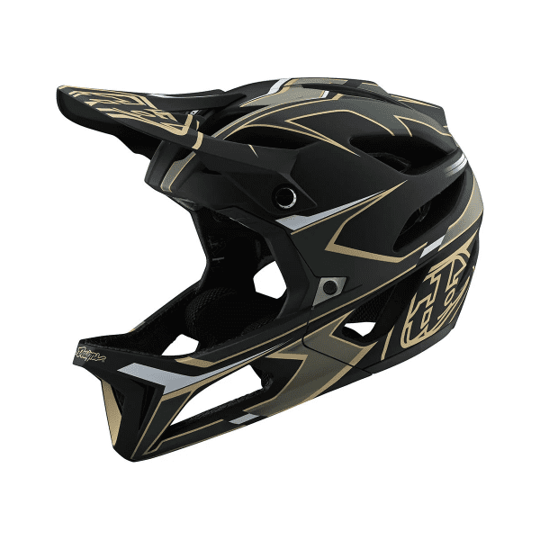 Stage Mips Fullface Helm - Schwarz/Grün/Gold