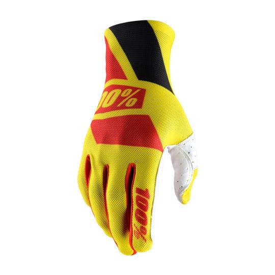 Celium Handschuh - Neon Yellow/Red