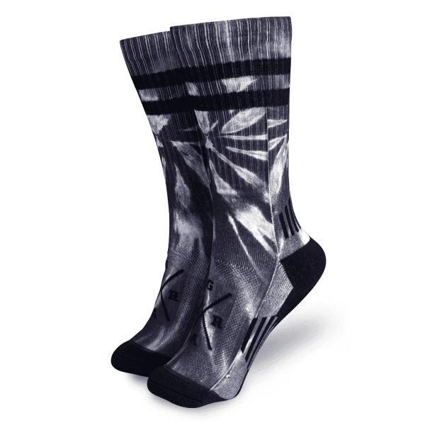 """Socken """"Tie Dye"""" - Grau"""