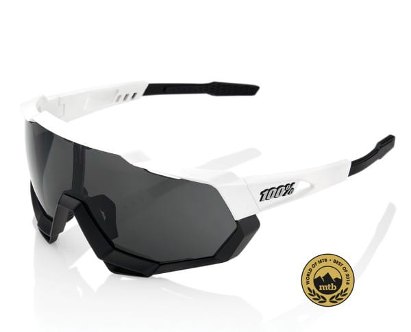 Speedtrap - Smoke Lense - Matte White/Black