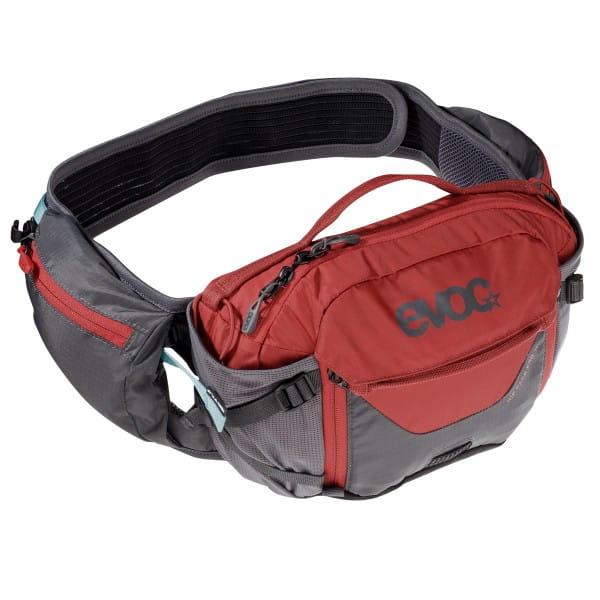 Hip Pack Pro 3l + 1,5l Trinkblase Hüfttasche - Grau/Rot