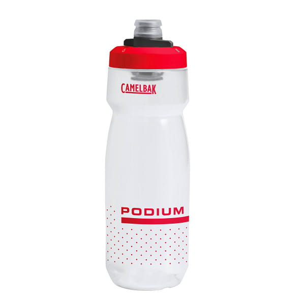 Podium water bottle 710 ml - transparent / red
