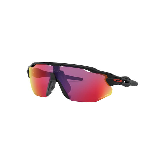 Radar EV Advancer Sonnenbrille Polished Schwarz - Prizm Road