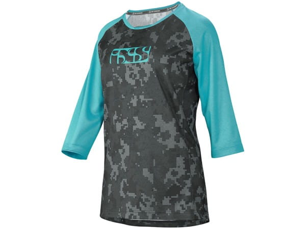 Carve Women's Jersey - Turquoise / Camo - 3/4