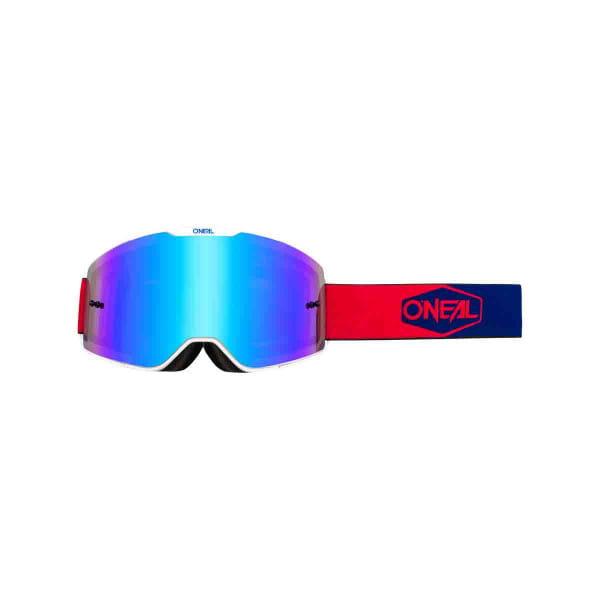 B-20 Goggles Plain Radium Blau - Rot/Blau