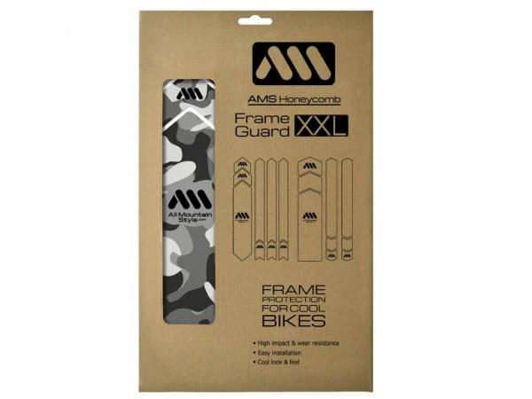 Honeycomb frame protection sticker XXL - Transparent / Camo