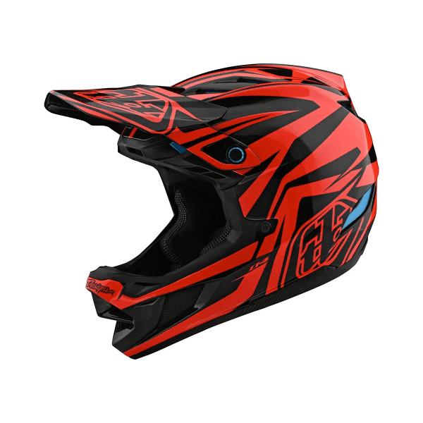D4 Helmet (Mips) Composite Fullface-Helm - SLASH Orange/Schwarz